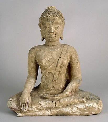 An image of A seated Buddha by