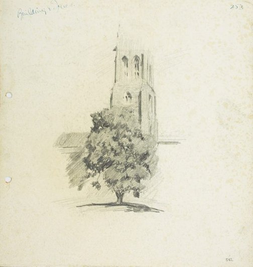 An image of St Patrick's Cathedral, Parramatta by Lloyd Rees
