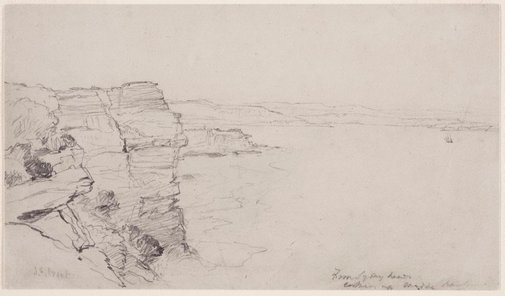 An image of From Sydney Heads looking up Middle Harbour by John Skinner Prout