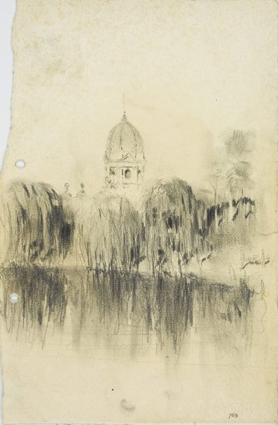An image of View from Parramatta Park towards the town by Lloyd Rees