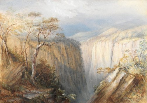 An image of Apsley Falls by Conrad Martens