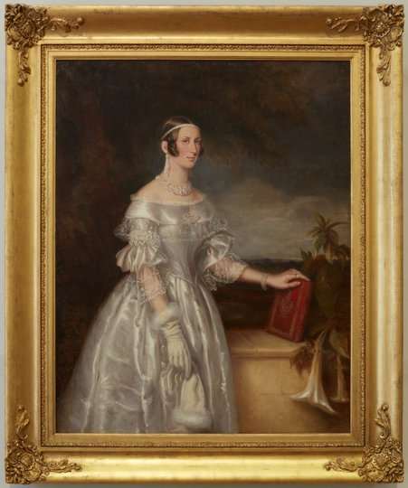 AGNSW collection Maurice Felton Portrait of Mrs Alexander Spark (1840) 117.1974