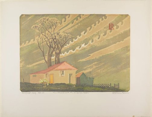 An image of The house with the orange door by Ethleen Palmer