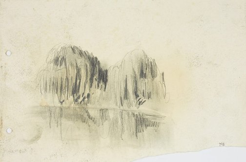 An image of Willows along the Parramatta River by Lloyd Rees