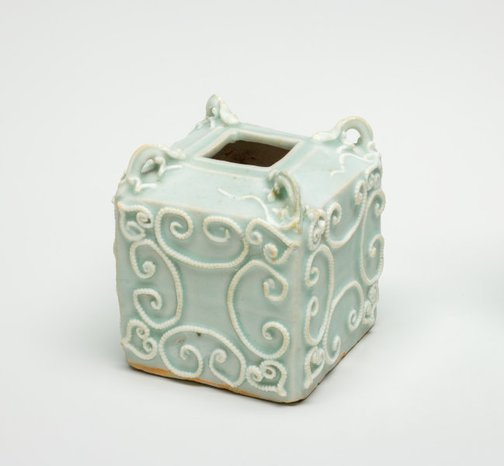An image of Jar of cuboid form by Jingdezhen ware