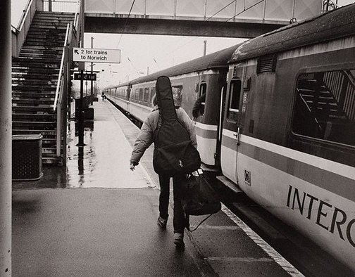 An image of Beth Orton, musician, Diss station, Norfolk, England by Lewis Morley