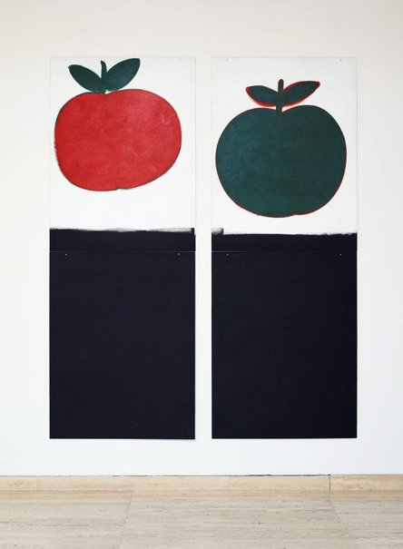 An image of Mayfair: eleven paintings, eleven signs, red-yellow-green (autumn) for Mrs Brisbane 1994-2004 by Robert MacPherson