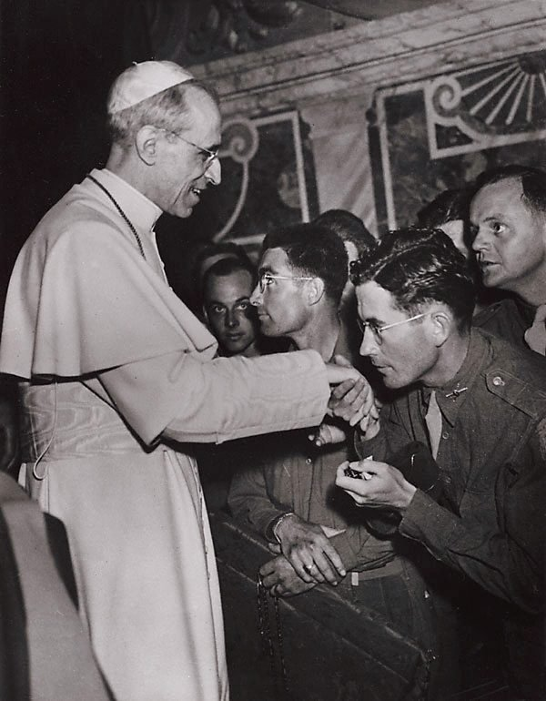 An image of Pope Pius, Rome World War II