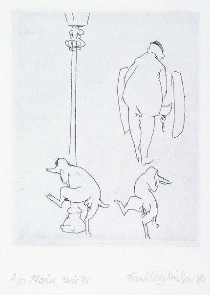 An image of Pissoire, Paris `48 by Frank Hodgkinson