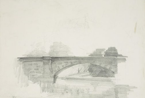 An image of Lennox Bridge, Parramatta by Lloyd Rees