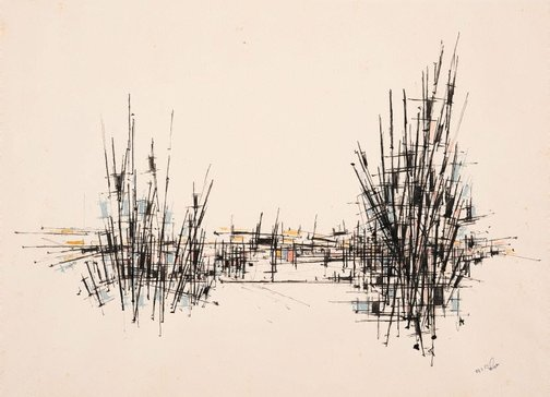 An image of Untitled drawing 1957 by William Rose