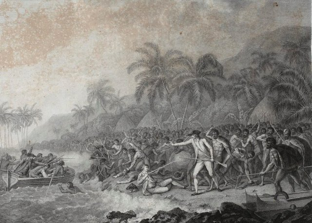 An image of The death of Captain Cook