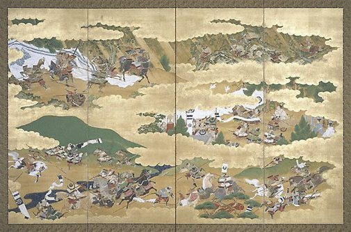 An image of (Samurai battle scenes) by