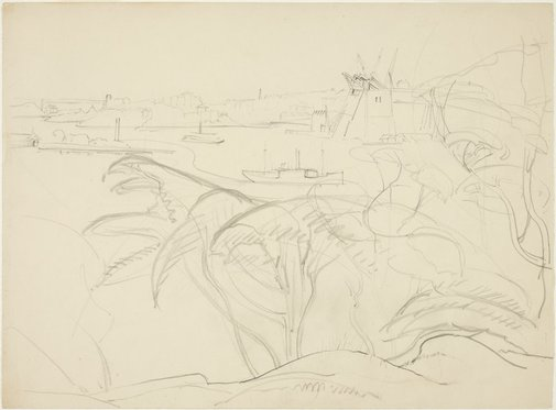 An image of Study for 'The Bridge, October 1929' by Adelaide Perry