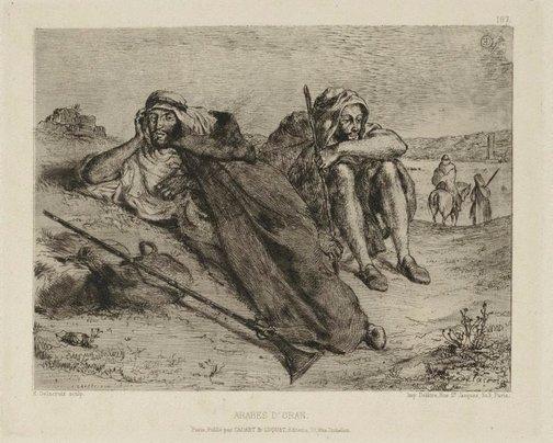 An image of Arabs of Oran by Eugène Delacroix