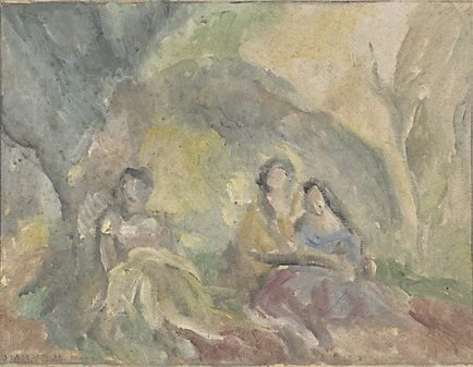 An image of (Three women in a glade)