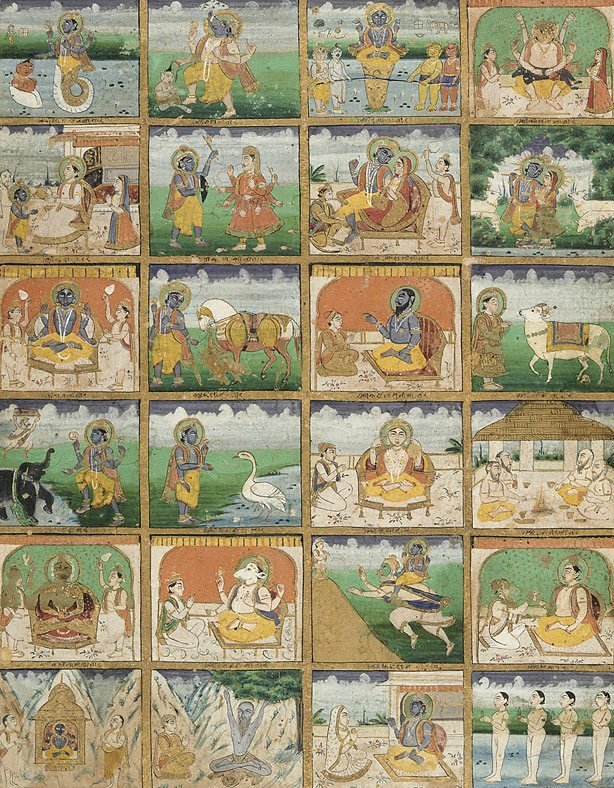An image of The twenty-four manifestations of Vishnu