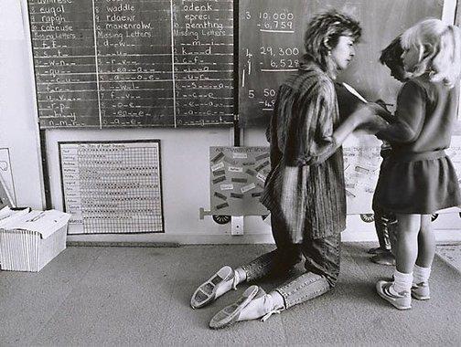 An image of Sally Robbins teaching at Mt Gunson school by Gerrit Fokkema