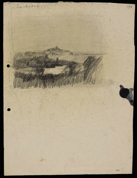 An image of Landscape with pointed hill by Lloyd Rees
