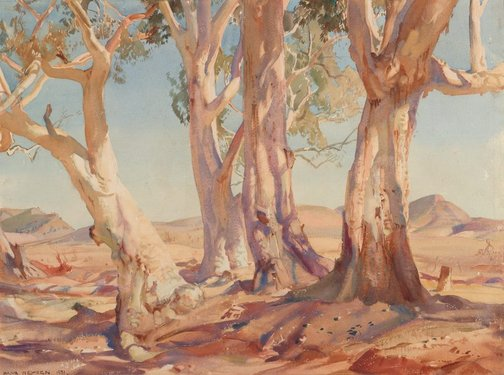 An image of Red gums of the far north by Hans Heysen