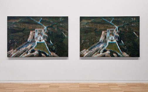 An image of Two paintings, hidden from view by Imants Tillers
