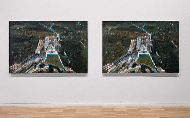 An image of Two paintings, hidden from view