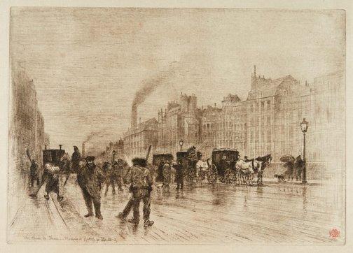 An image of Matinée d'hiver sur les quais by Félix Buhot