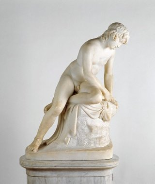 AGNSW collection John Gibson RA Narcissus post 1829