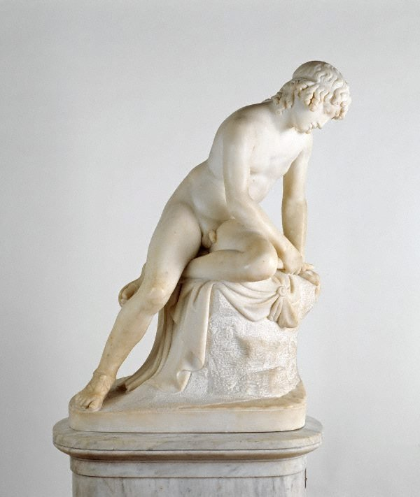 Narcissus, (post 1829) by John Gibson RA