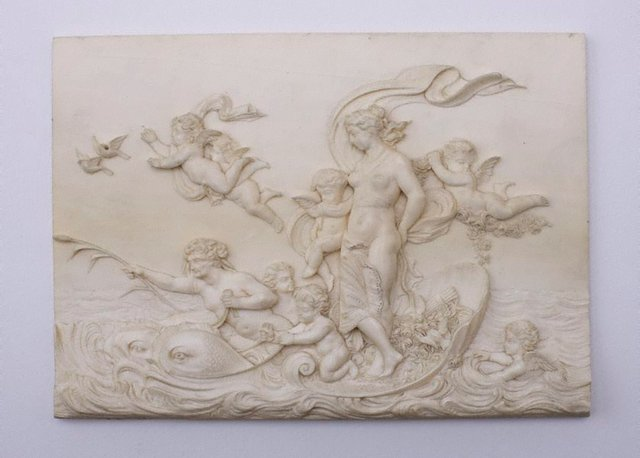 An image of Carved ivory panel