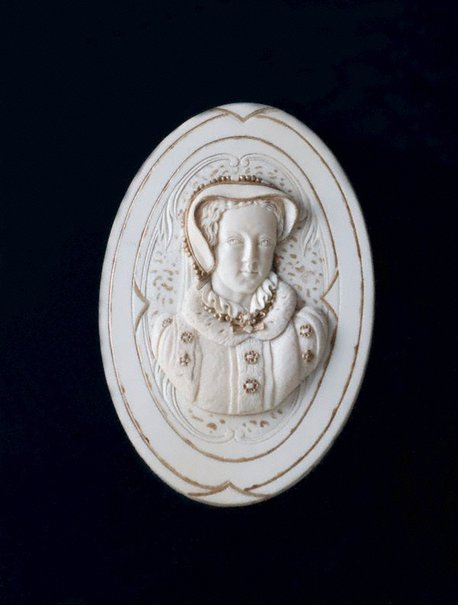 An image of Ivory portrait of Mary Queen of Scots by Unknown