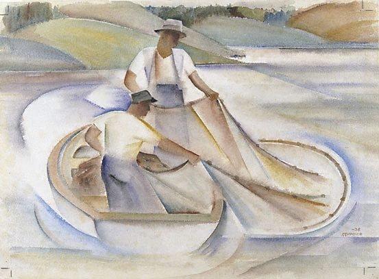 An image of Lake fishermen II