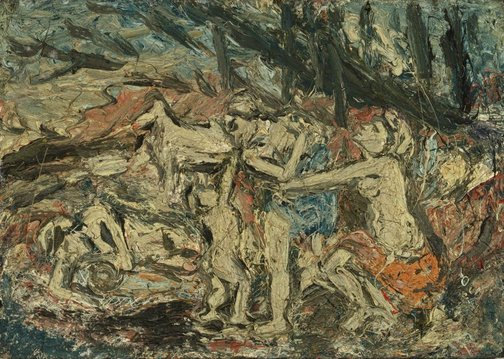 An image of From Cephalus and Aurora by Poussin no.3 by Leon Kossoff