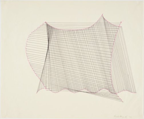 An image of Vertical and Horizontal Line Forms Over-Layered by Kazuko Miyamoto