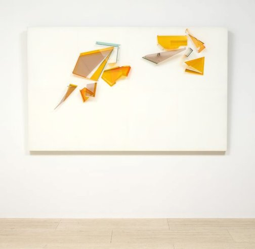 An image of Plexiglass wall relief by Margo Lewers