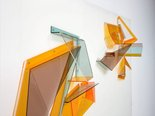 Alternate image of Plexiglass wall relief by Margo Lewers