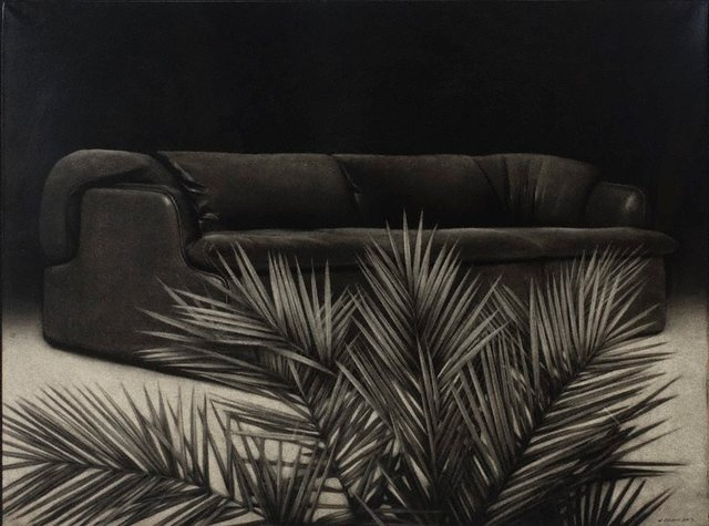 An image of Sofa and palm