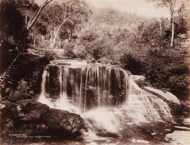 An image of The Weeping Rock, Wentworth Falls Blue Mtns. N.S.W.