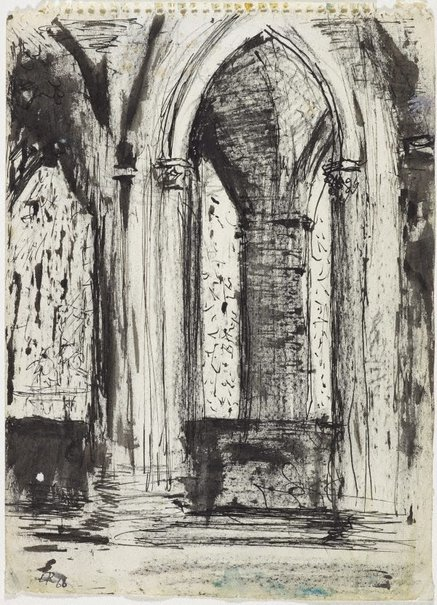 An image of Interior, Chartres Cathedral by Lloyd Rees