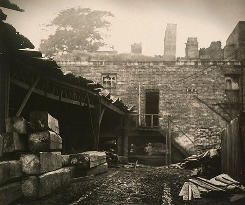An image of Old timber yard by Harold Cazneaux