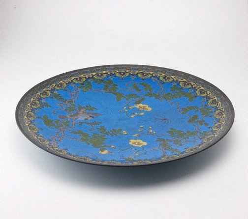 An image of Japanese blue plaque by Meiji export ware