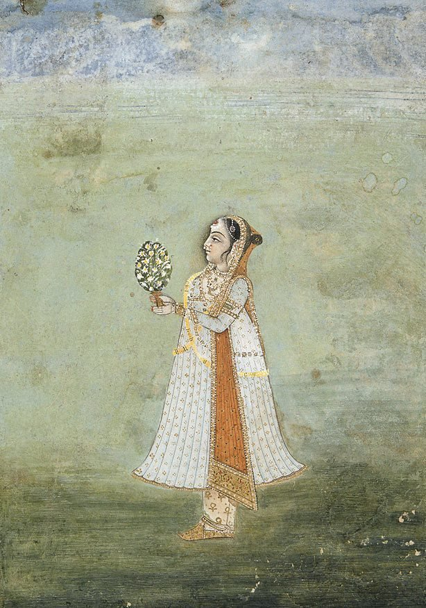 An image of Girl with flowers