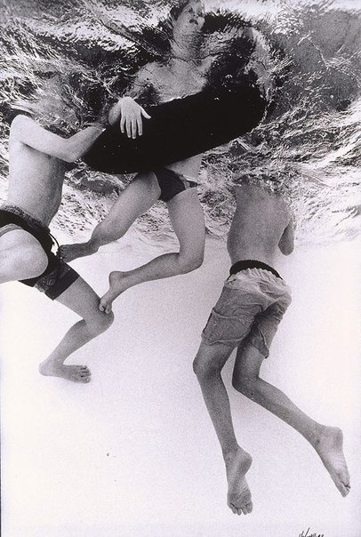 An image of Boys and tube, Spring Hill Baths, Brisbane, January 1992 by Craig Holmes