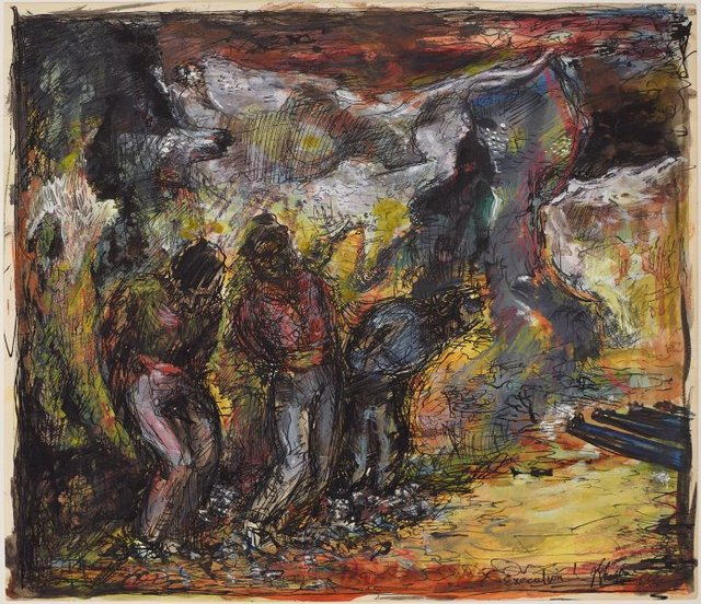An image of Studies for 'Eau + Feu = Calamite' Execution