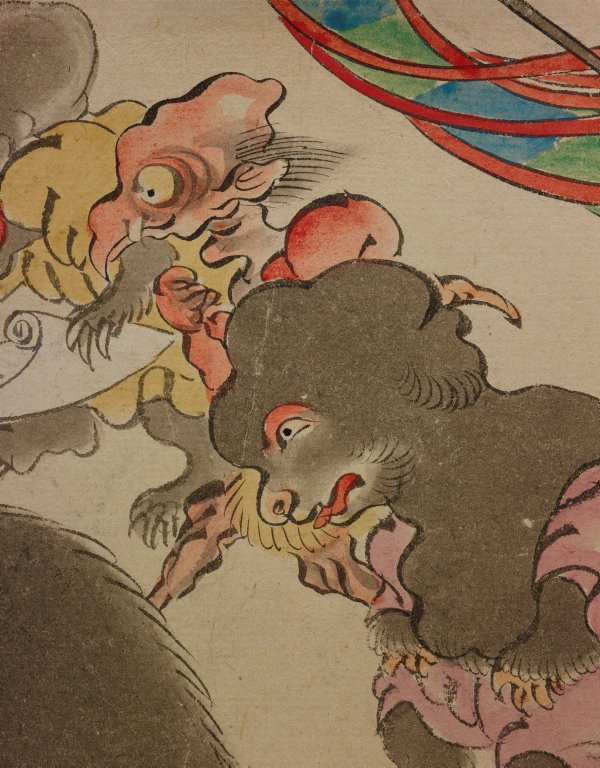 An image of Night procession of the one hundred demons (Hyakki yagyô)