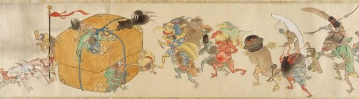 An image of Night procession of one hundred goblins by Hiroharu Itaya
