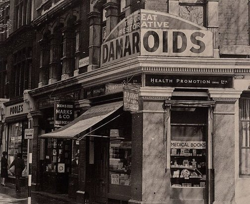 An image of Corner no 84 Charing Cross Rd, London by Lewis Morley