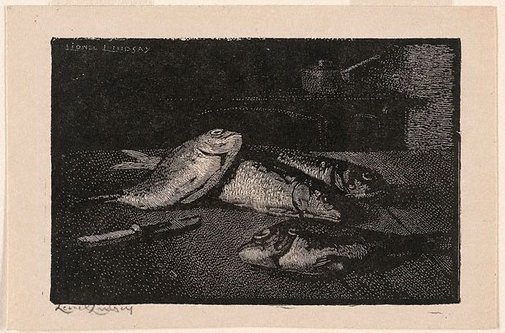 An image of Fish by Lionel Lindsay