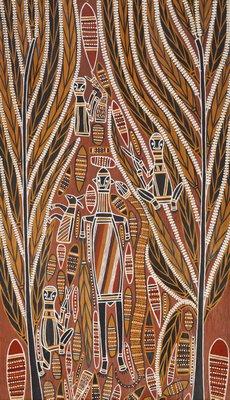 Alternate image of Gunmirringu funeral scene by Dr David Malaŋi
