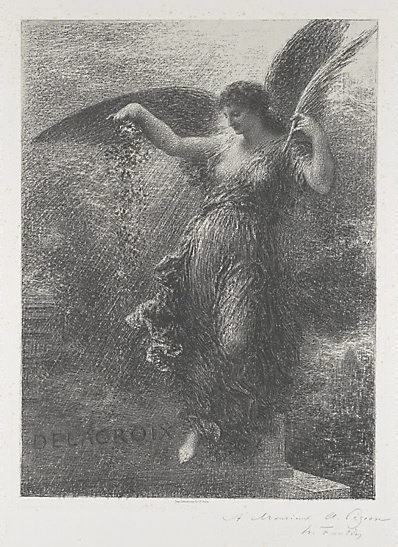 An image of To Eugene Delacroix by Henri Fantin-Latour